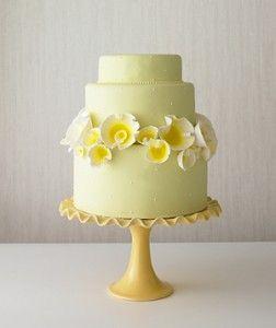 Kleine Hochzeitstorte Gelb Hochzeitstorte Hochzeitstorte Kuchen