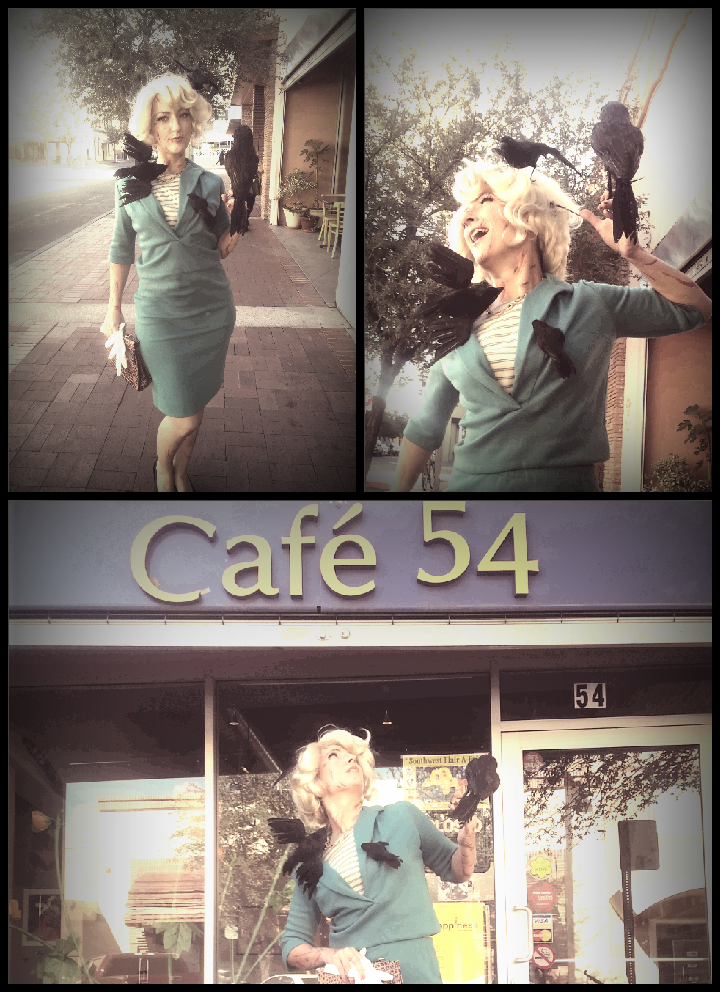 """Tippi Hedren costume -- from Alfred Hitchcock's 1963 film, """"The Birds"""" -- by Autumn Bree in Tucson, AZ"""