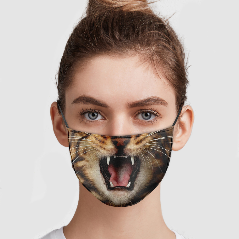 Angry Cat Face Mask Allbluetees Com Cat Face Mask Cat Face Angry Cat