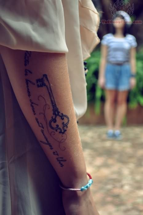 Key Tattoo on Arm