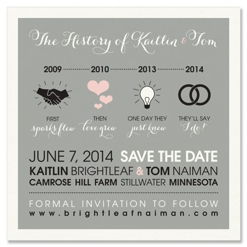 Unique Wedding Save-the-Date By
