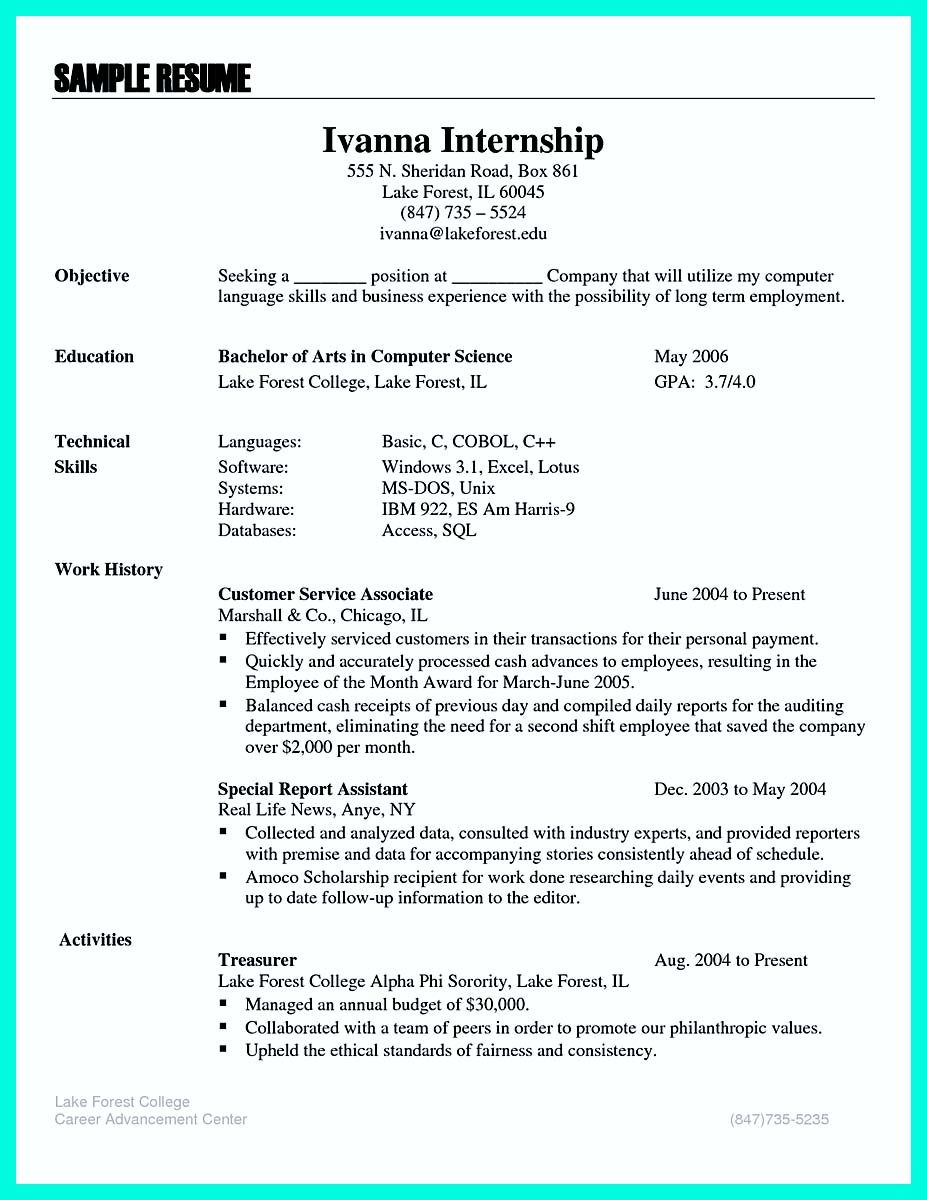 Awesome The Best Computer Science Resume Sample Collection Check More At Http Snefci Org Best Computer Resume Skills Resume Examples Teacher Resume Template
