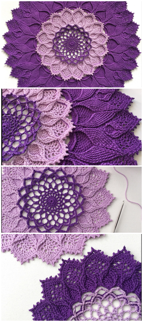 How To Crochet Arcanoweave - Free Pattern - Crochetopedia #crochetmandalapattern