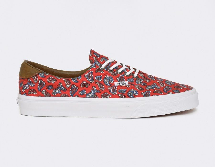 39770d0787  Vans Era 59 Paisley - Red  sneakers Vans Era 59