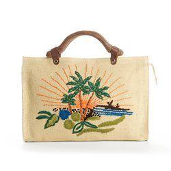 Handtas met handvat in hout MADEMOISELLE R - Boetiek mademoiselle R