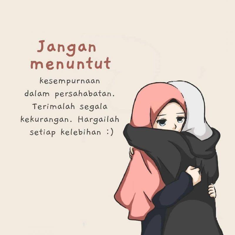 Gambar Kata Kata Muslimah Kata Kata Indah Kutipan Persahabatan Terbaik Kartun