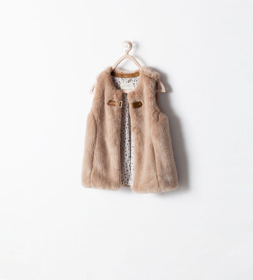 Kids Martu Abrigos VestPara Fur Buckled Zara rBtxshQdC
