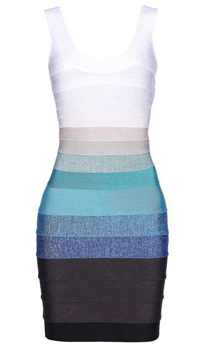 Ombre Bandage Dress - Sheinside.com