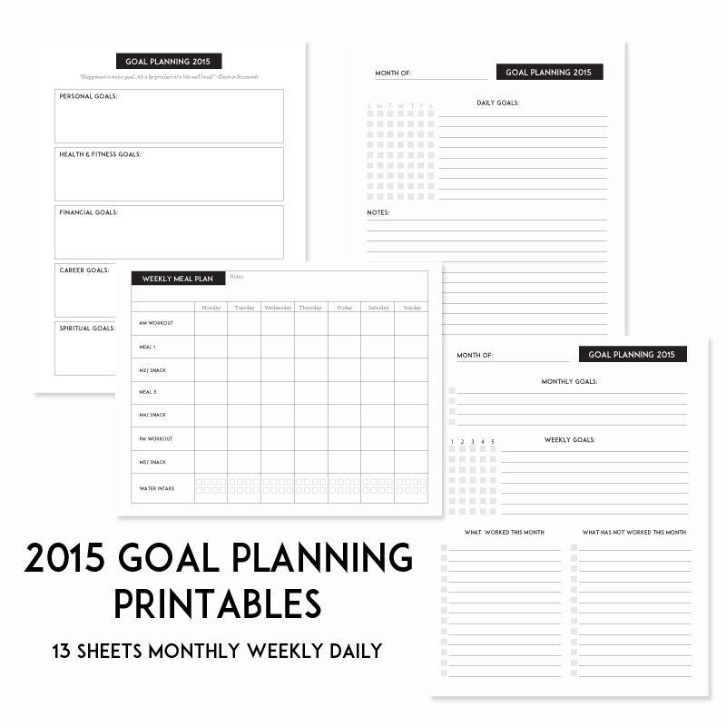 2015 spt success goal sheets sweetpapertrail com paper trail