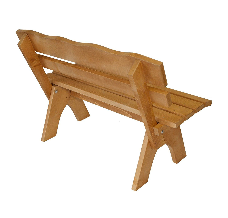 Amazon De Gartenbank Freital 120cm 2 Sitzer Kiefer Massiv 35mm Gartenbank Holz Massiv Gartenbank Gartenbank Holz