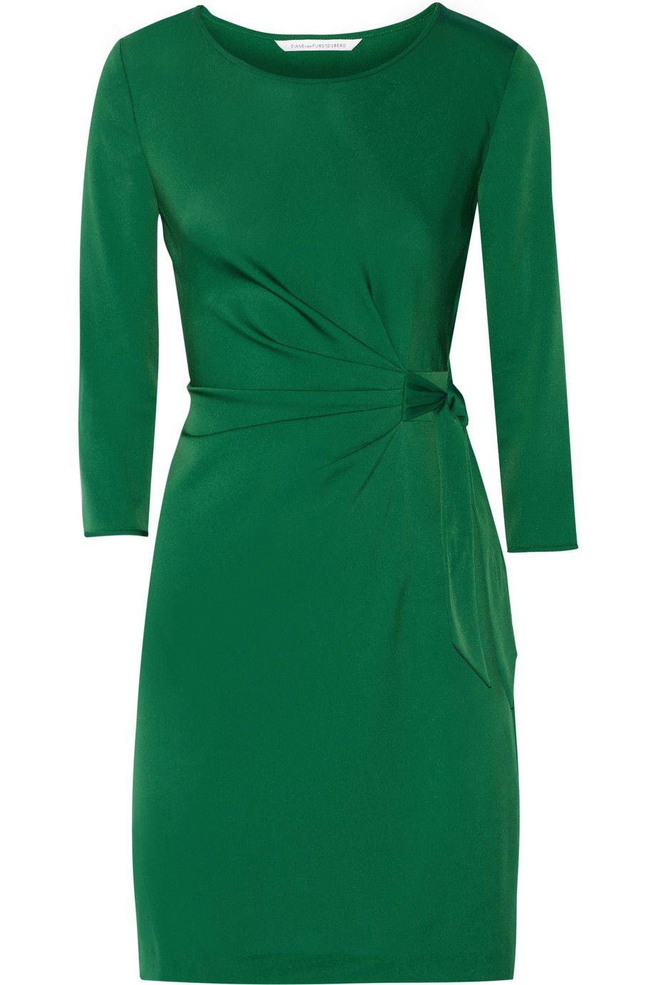 DIANE VON FURSTENBERG Zoe Stretch-Jersey Dress. #dianevonfurstenberg #cloth #dress