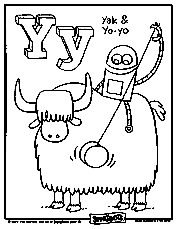 Letter Y Alphabet Coloring Pages Story Bots Alphabet Coloring