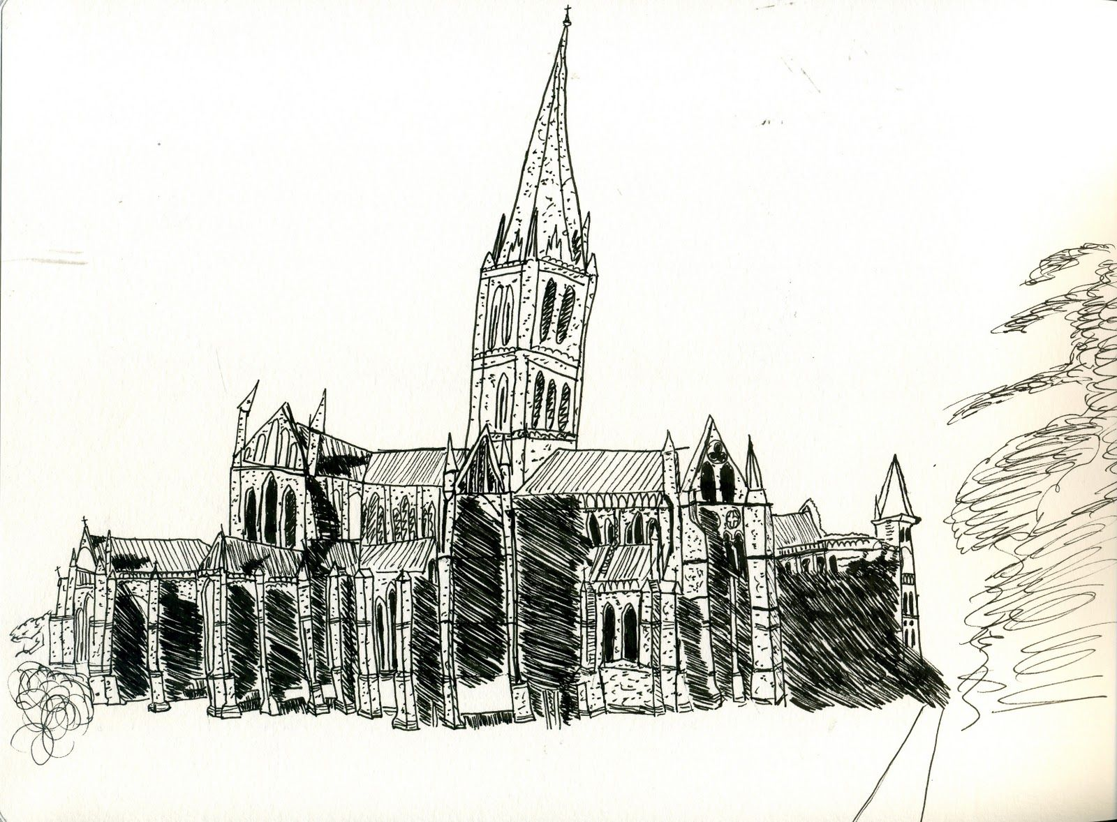 Gothic Architecture Drawing Amazing Style Simple My Of The Salisbury