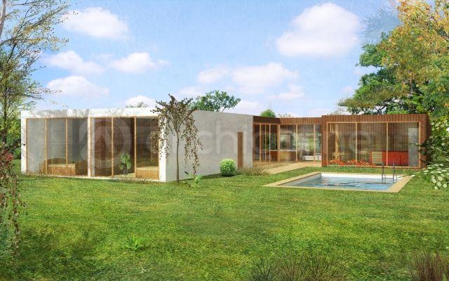 Maison Aspen - Plan de maison Contemporaine par Archionline Maison