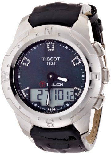 Tissot Women's T047.220.46.126.00 Black Mother-Of-Pearl Diamonds Index Dial Watch: Watches: Amazon.com