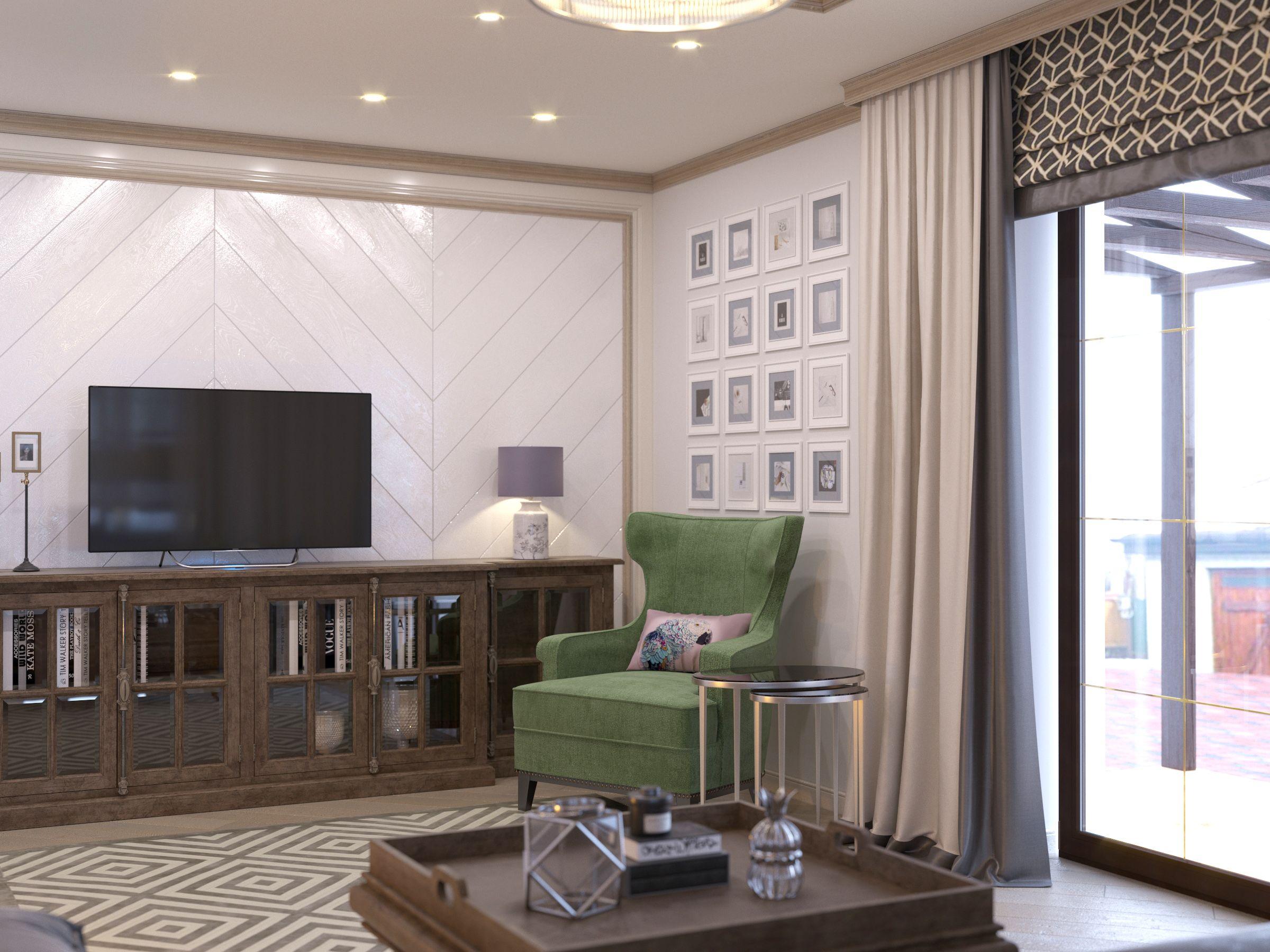 гостиная в стиле американская классика отделка стен белая вагонка