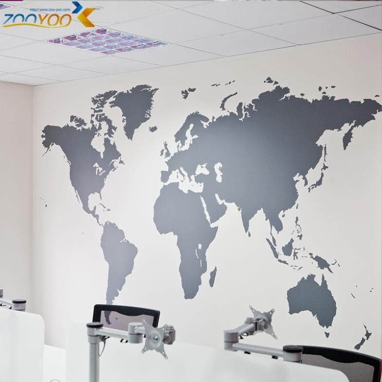 Large World Map Nursery Wall Decal - Baby Nursery Wall Decal - 7 - best of large printable world map pdf