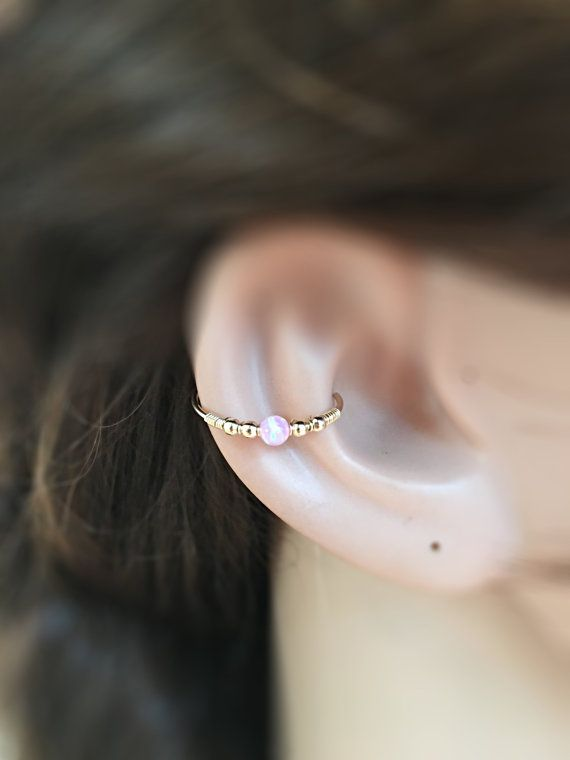 Conch piercing opal, conch earring, conch jewelry earring