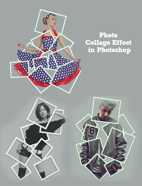 How to Turn a Picture into a Photo Collage Effect in Photoshop #photoeffect #collagework #artwork