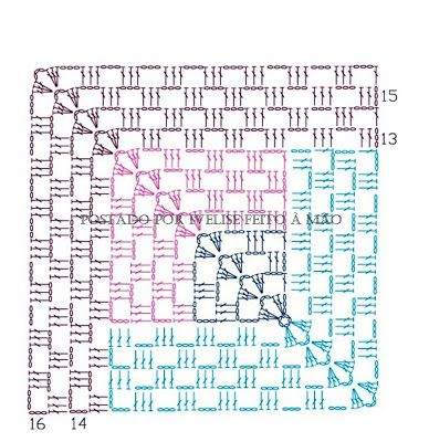 Granny schema unit crochet pattern motif pinterest crochet diagram granny schema unit crochet pattern ccuart