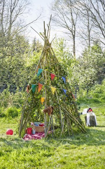 So Bauen Sie Ein Weidentipi Weidentipi Garten Spielplatz Kinder Garten