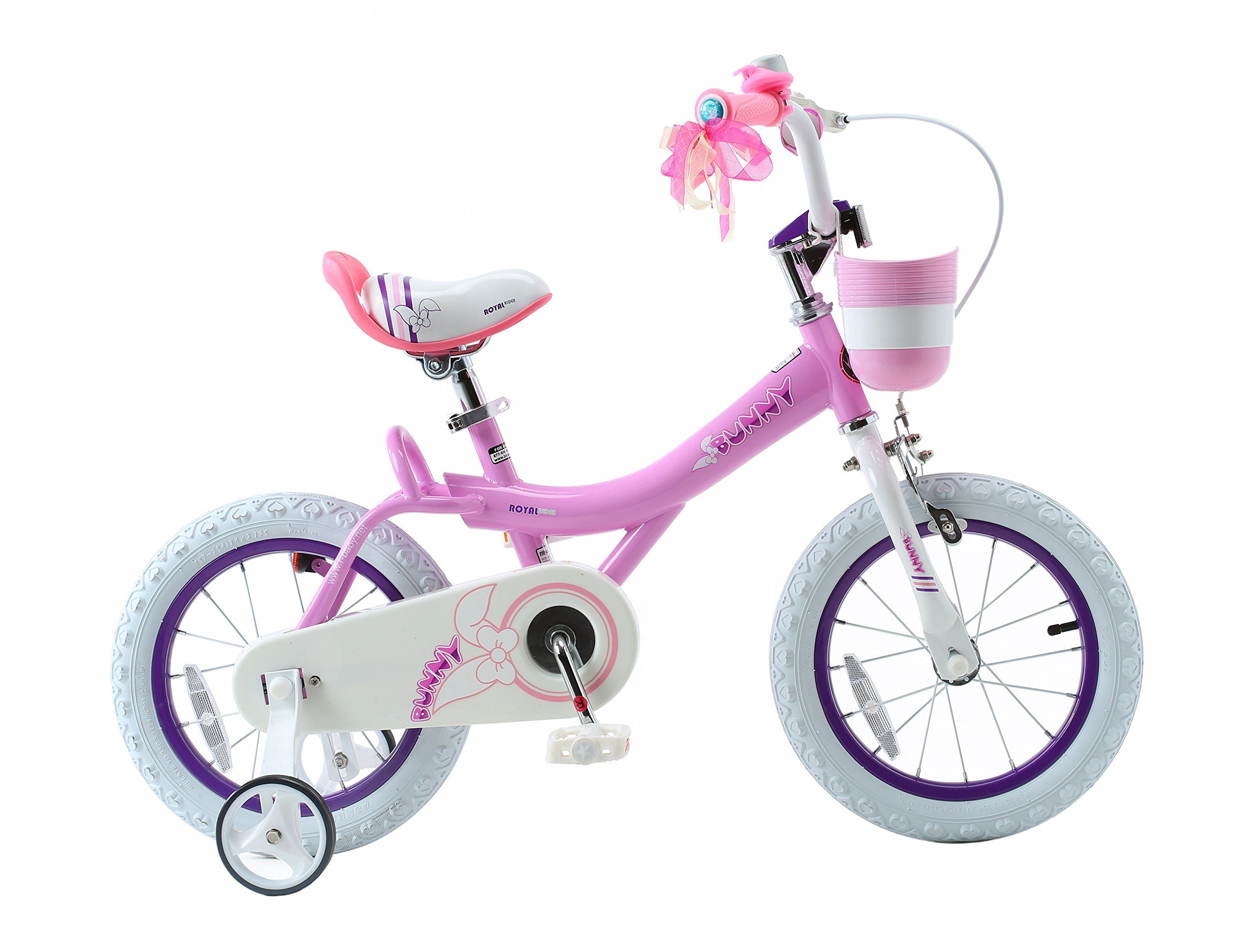 6fc4ef28535 Royalbaby Bunny Girls Bike 14 inch wheels with basket and training wheels  training wheels gifts for kids girls bicycles Pink * Visit the image link  more ...