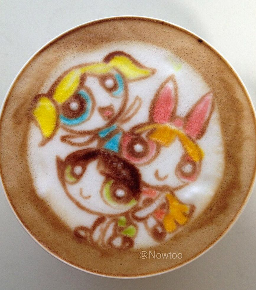 Latte Art: Supernenas.