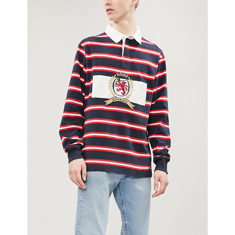 5e5b2465 TOMMY JEANS CREST STRIPED COTTON RUGBY SHIRT. #tommyjeans #cloth ...