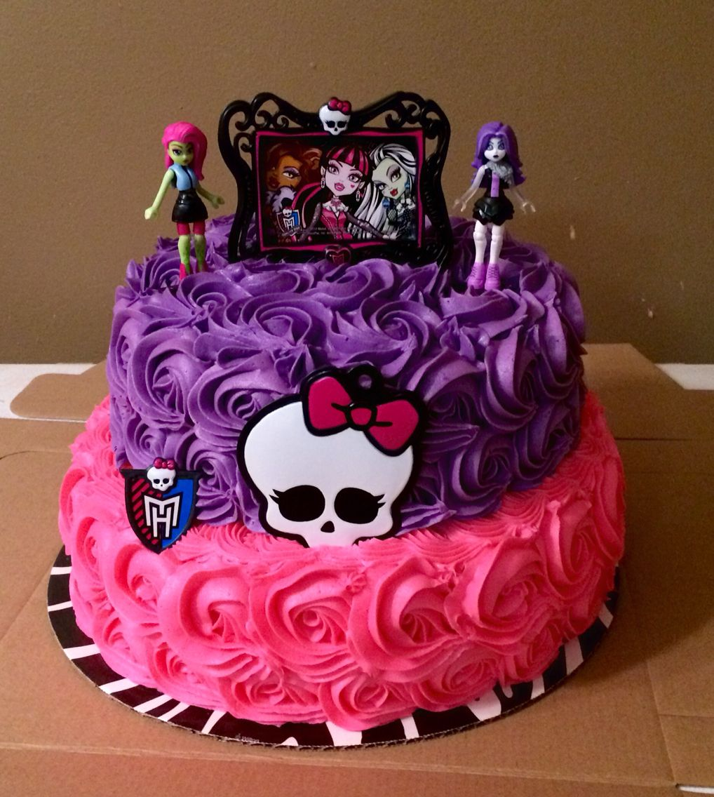 Miraculous Monster High Cake With Images Monster High Birthday Cake Funny Birthday Cards Online Alyptdamsfinfo