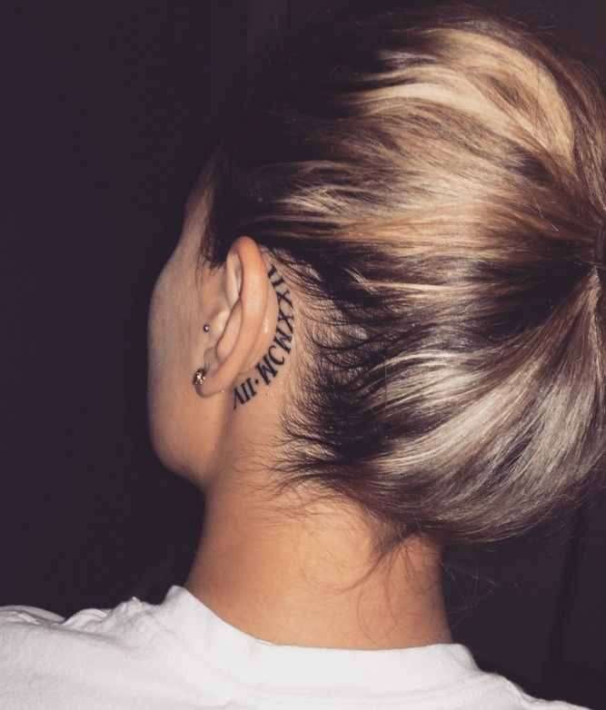 90 Trendy Small And Meaningful Back Ear Tattoos Behind Ear Tattoos You Won T Miss Ear Tattoo 16 𝖒𝖎𝖓𝖎 Behind Ear Tattoos Back Ear Tattoo Ear Tattoo