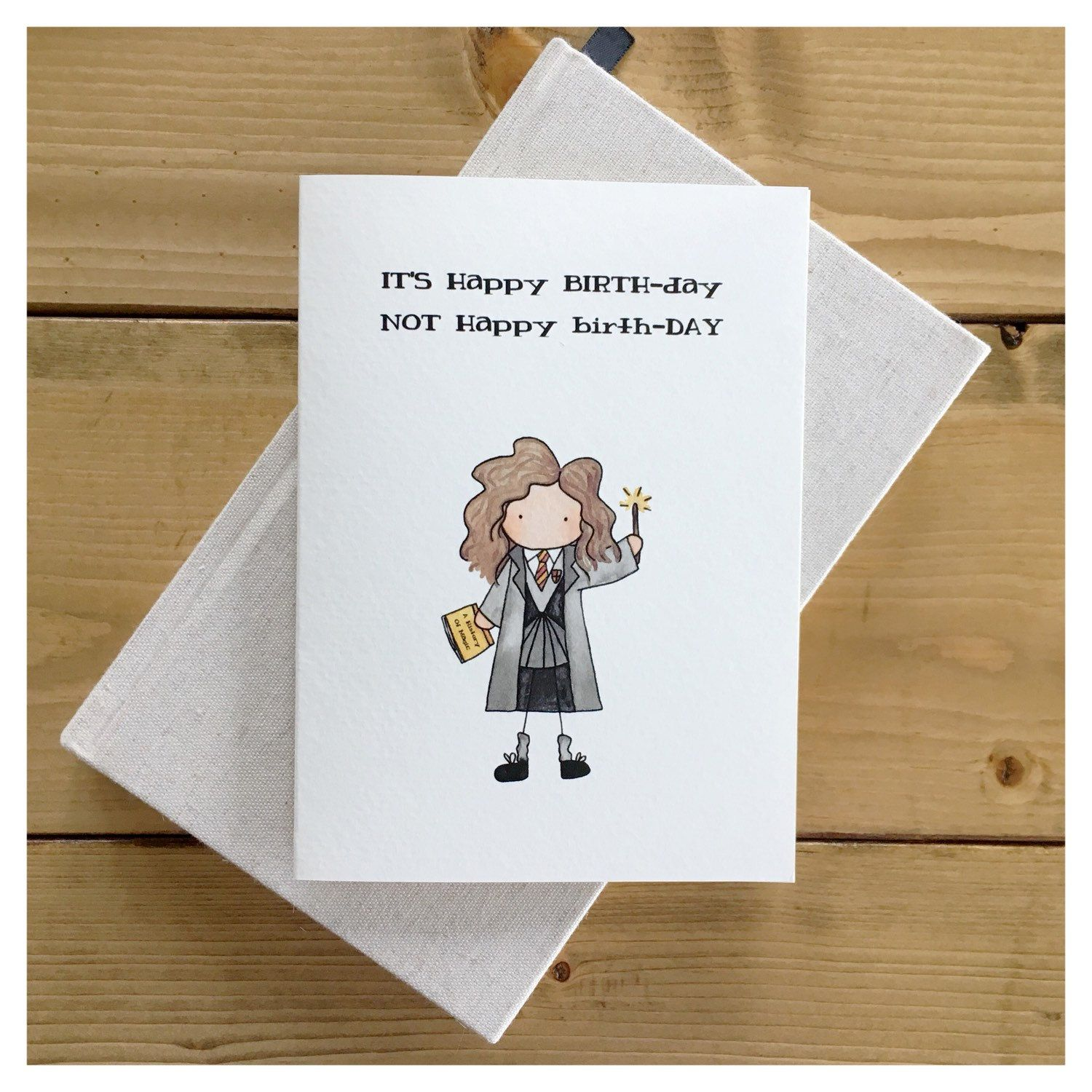Witch Birthday Card // Magical Birthday, Wizard Card