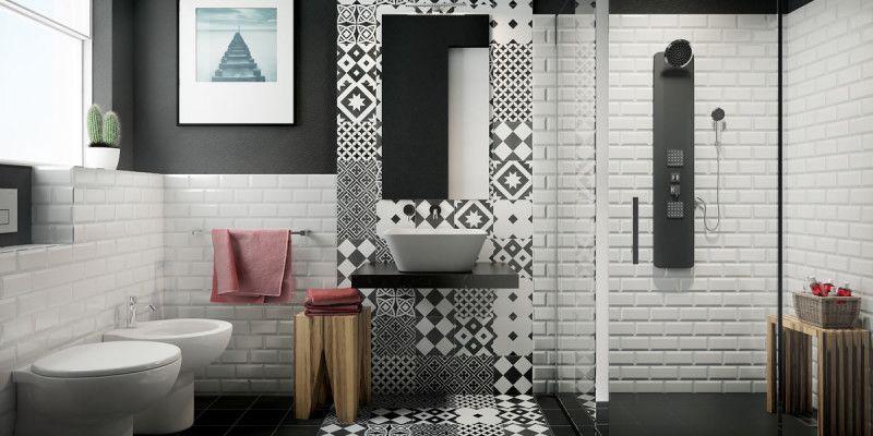 Come ristrutturare un bagno piccolo bianco e nero fai da te | Cameras