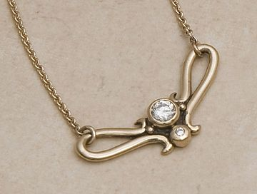 .40 ct Diamond Pendant in 14Kt. Gold by Richelle Leigh Collection
