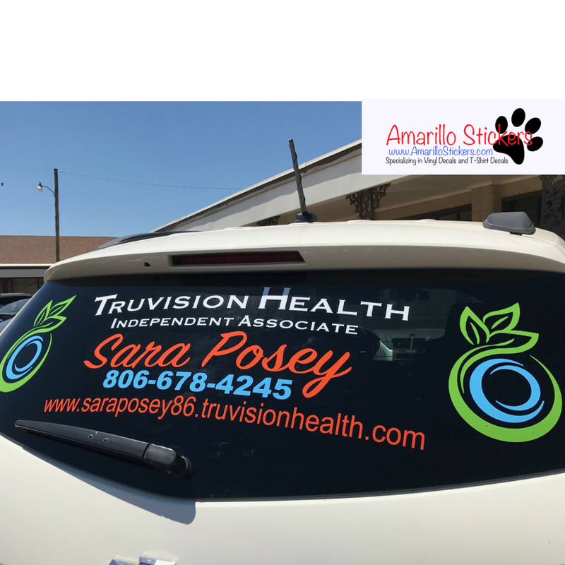 Amarillo stickers can make custom stickers for your car window or your business window place your order today so you will make a lasting impression on your