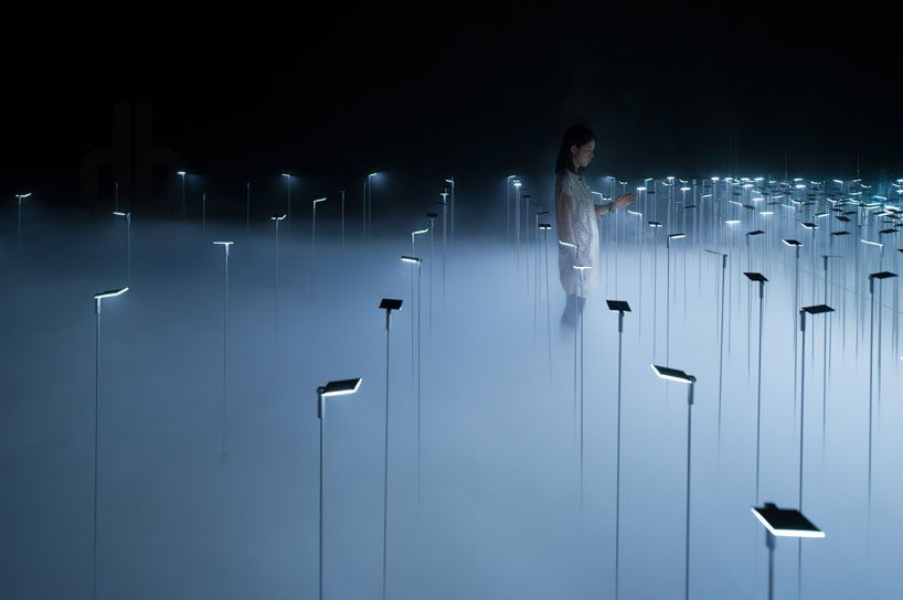 infuse OLED installation by chikara ohno / sinato