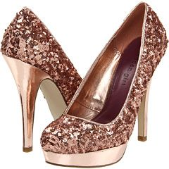"too high a heel for me but I love ""rose gold"" shoes, rose gold anything  . .."