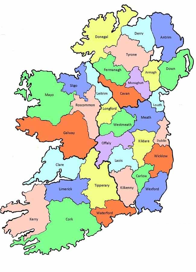 How Well Do You Really Know Ireland Ireland Map County Map