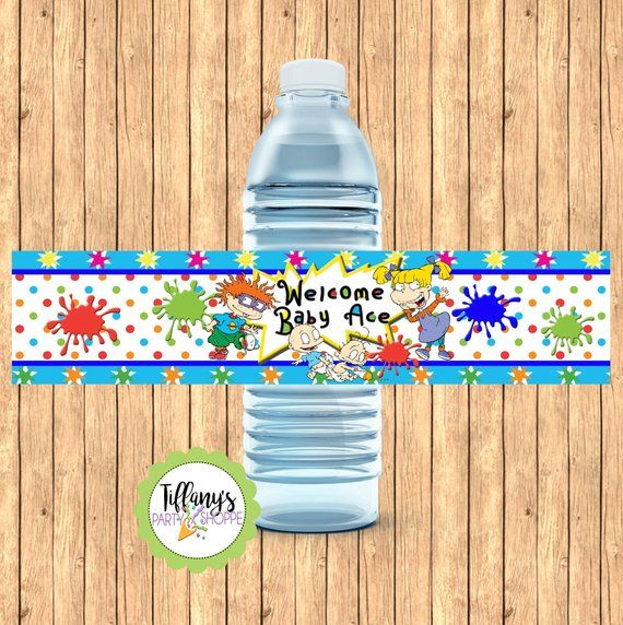 90s throwback|YOU PRINT 90s party|Rugrats birthday Labels Rugrats Water Bottle Labels|Birthday ideas|Custom Party Favors|Chip bags