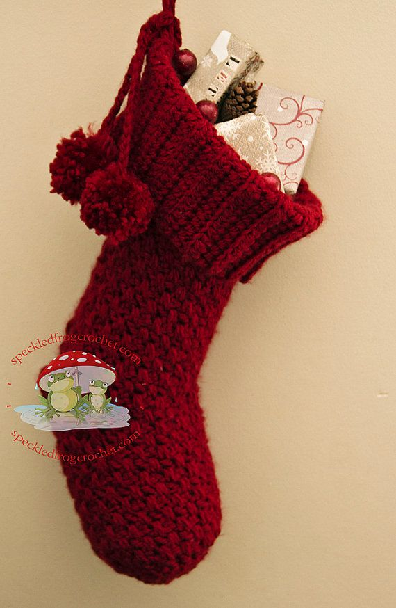 Crochet Christmas Stocking Pattern Christmas Stocking With
