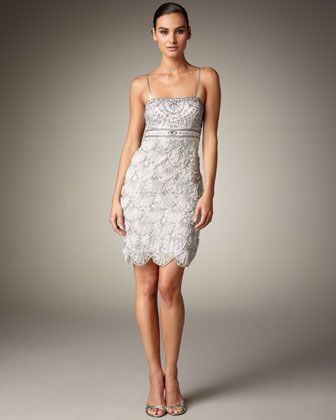 Scallop-Skirt Dress by Sue Wong at Neiman Marcus.