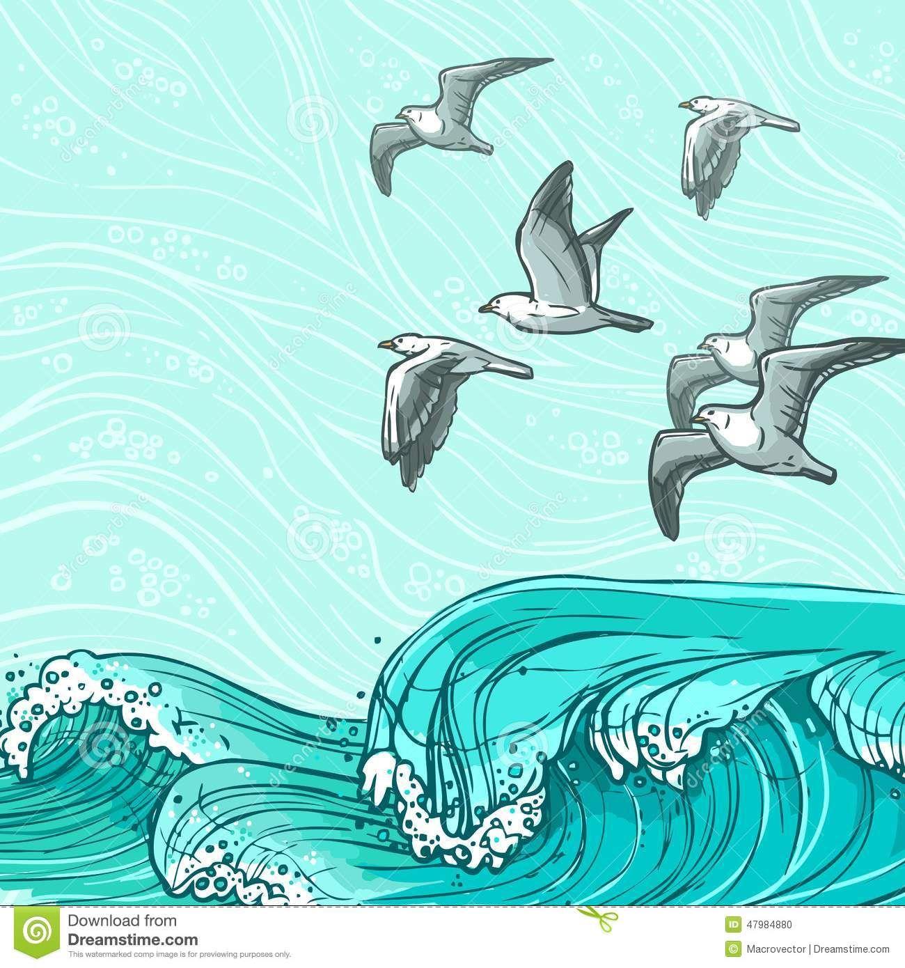 Sea Waves Water Illustration