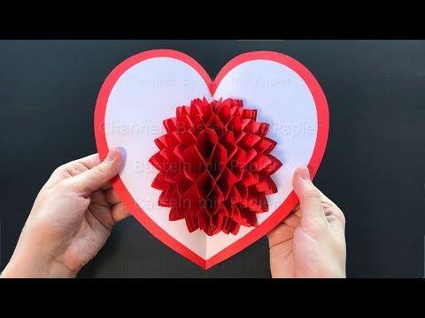 23 Basteln Mit Papier Zum Valentinstag Diy Pop Up Karten Als