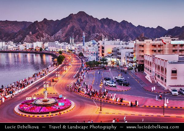Middle East Sultanate Of Oman Muscat مسقط Masqaṭ Muscat Port Port Sultan Qaboos Muttrah Corniche Along Arabian Sultanate Of Oman Oman Arabian Sea