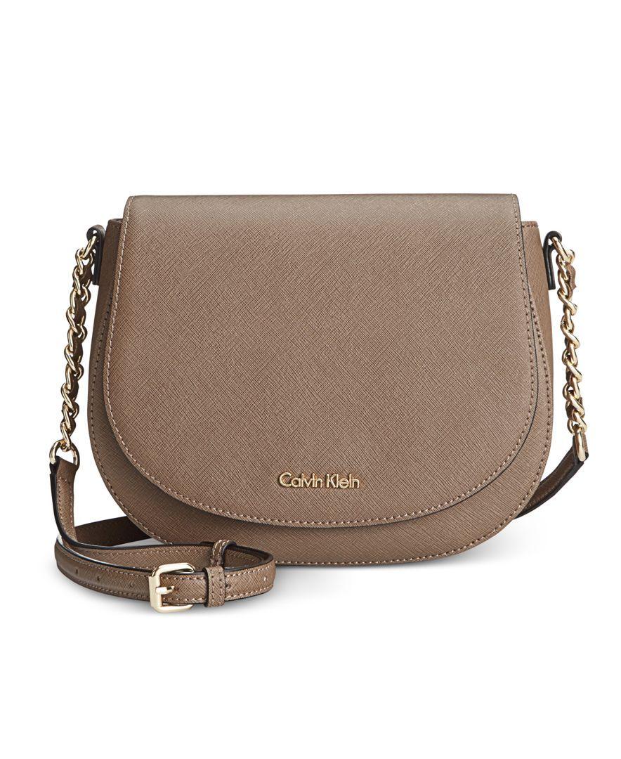 26fb50caf Calvin Klein Saffiano Saddle Crossbody Bag | Purses in 2019 ...