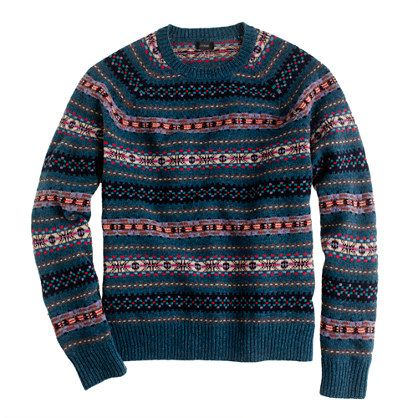 Lambswool Inverness Fair Isle sweater | Clothing & Footwear ...