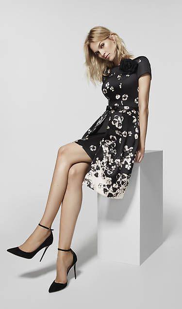 Vestido blanco y negro pronovias