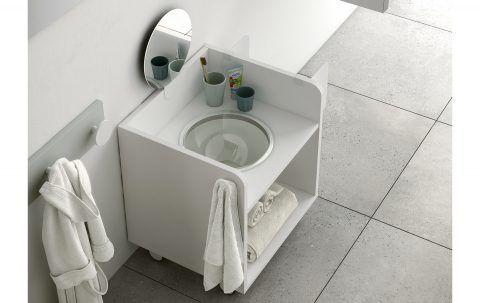 Mobile da bagno mobili montessori ros arreda legno nel for Mobili montessori