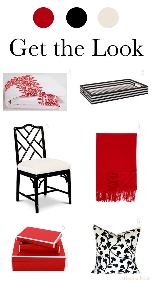 Get the Look // Chic Combinations: Red White and Black by Arianna Belle for LDV