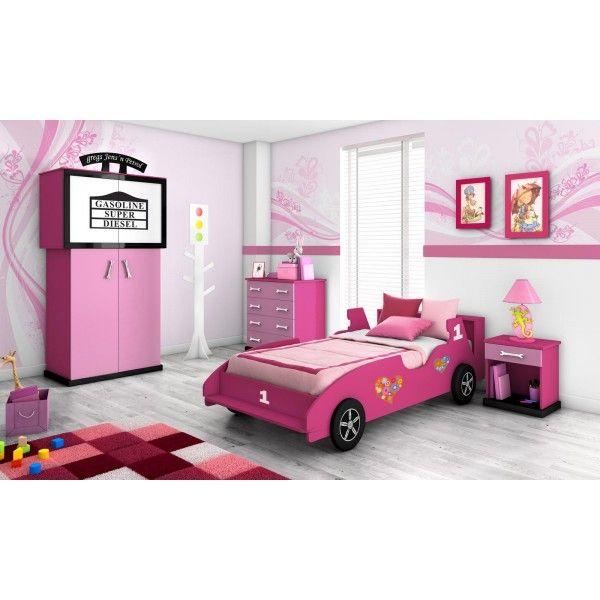 Cama coche de ni as dormitorio infantil para ni as info brinquedo - Dormitorios infantiles ninas ...