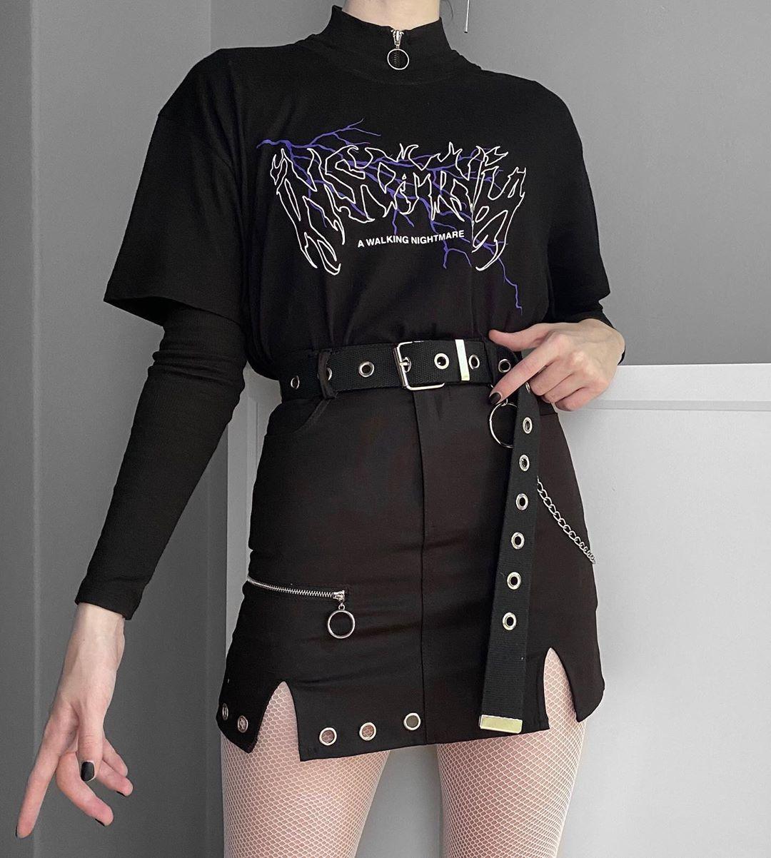 Insomnia Lightning Shirt – Aesthetic Shirt, Aesthetic Clothing, Grunge Shirt, Grunge Clothing Tumblr Clothing, Tumblr Shirt, Grunge, Y2K